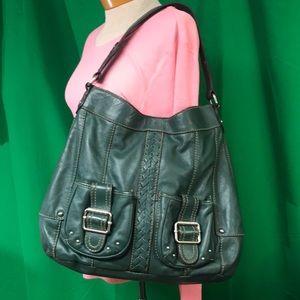 ❗️2/$20❗️Tignanello Large Green 💯 % Leather Purse